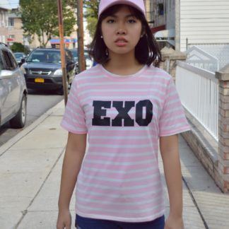 EXO striped pink shirt for kpop