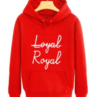 BTS V Loyal Royal hoodie in red