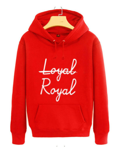 BTS V Loyal Royal hoodie in red