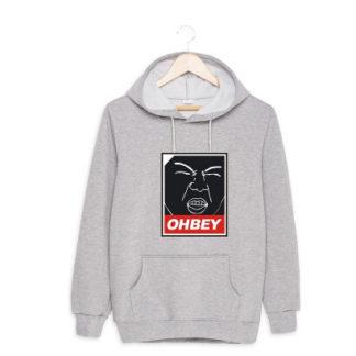 EXO Sehun Ohbey hoodie in grey