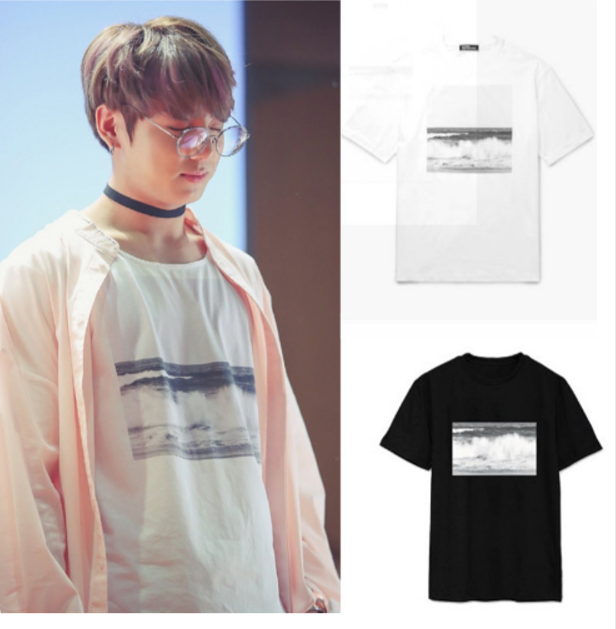 Jungkook ocean t shirt very kpop for Cheap t shirt printing next day delivery