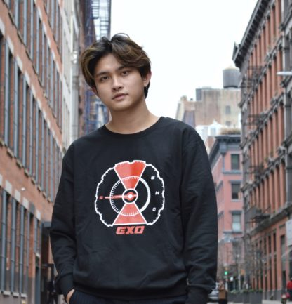 EXO Don't mess up my temp sweater in black