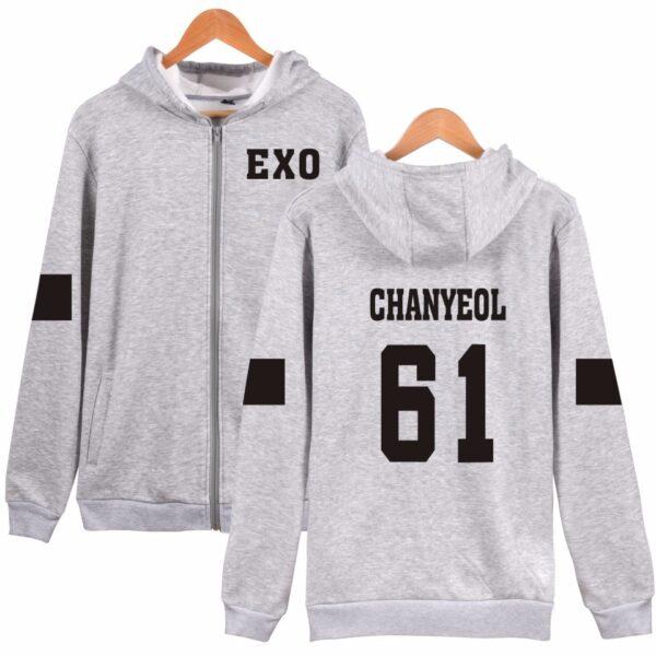 EXO Chanyeol zipper hoodie verykpop
