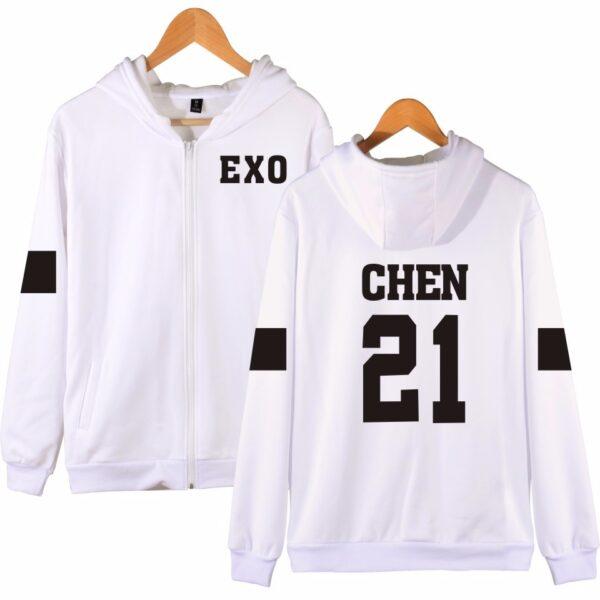 EXO Chen Reißverschluss Hoodie verykpop