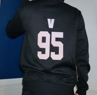 BTS Gradient hoodie V in black