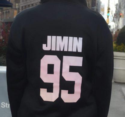 BTS Gradient hoodie Jimin in black