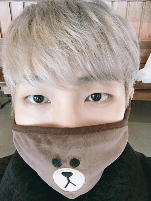 BTS Rapmonster Bär Maske