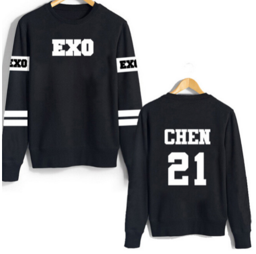 Exo suéter Chen de manga larga