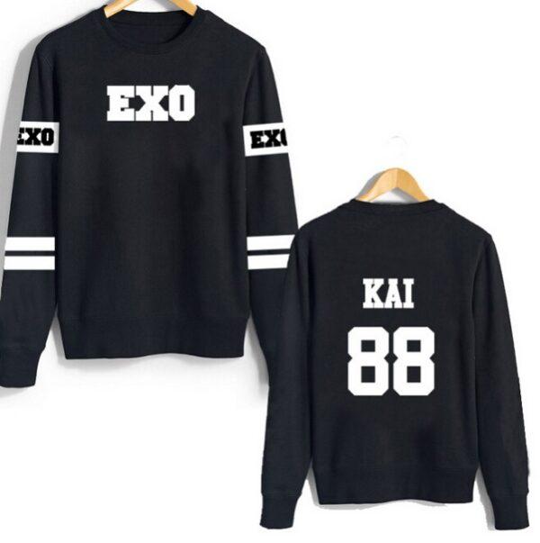 Exo suéter Kai de manga larga