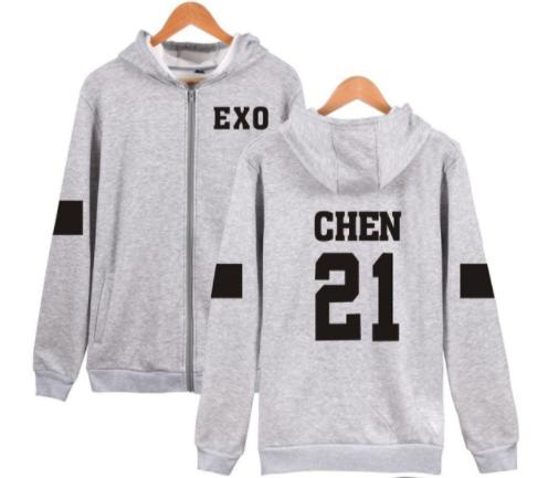 EXO Chen zipper hoodie verykpop