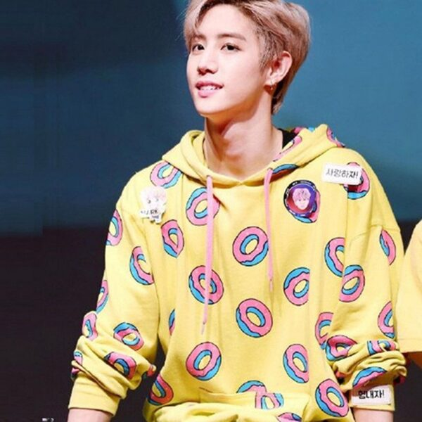 kpop yellow donut hoodie