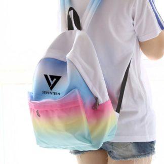 Seventeen rainbow backpack kpop