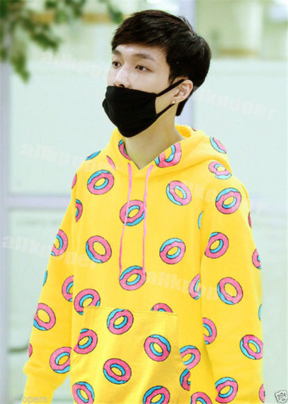 Yellow donut hoodie very kpop shop