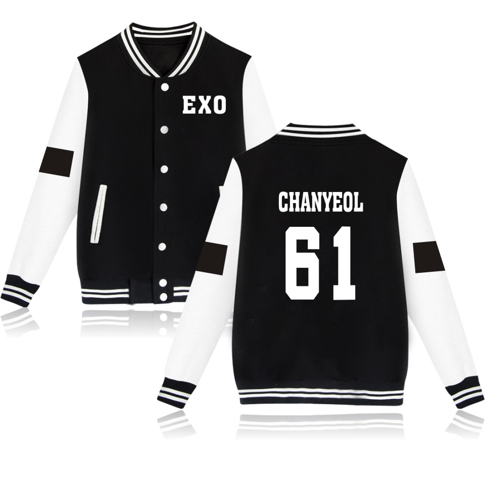 Baju Exo Exo Baseball Jackets Very Kpop