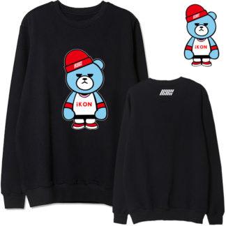 ikon black bear sweater for kpop