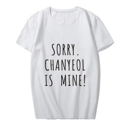 exo chanyeol is mine shirt in white