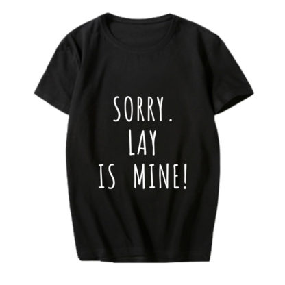exo lay is mine shirt in black