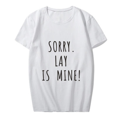 exo lay is mine shirt in white