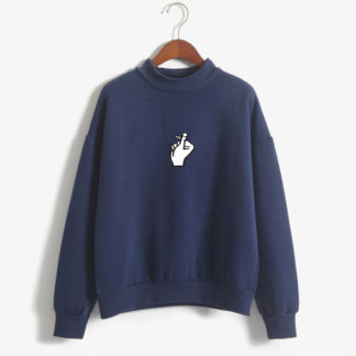 love finger sweater in blue