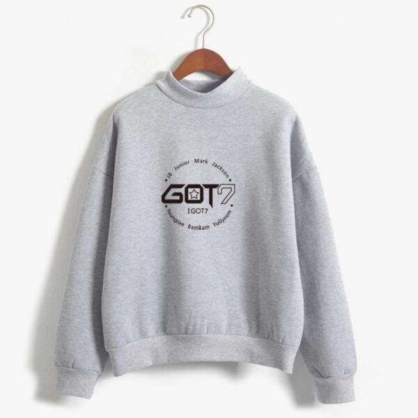 got7 members sweater in grey