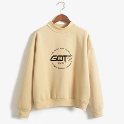got7 members sweater in tan
