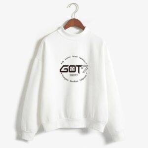 got7 members sweater in white