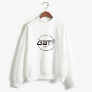 got7 members sweater in white