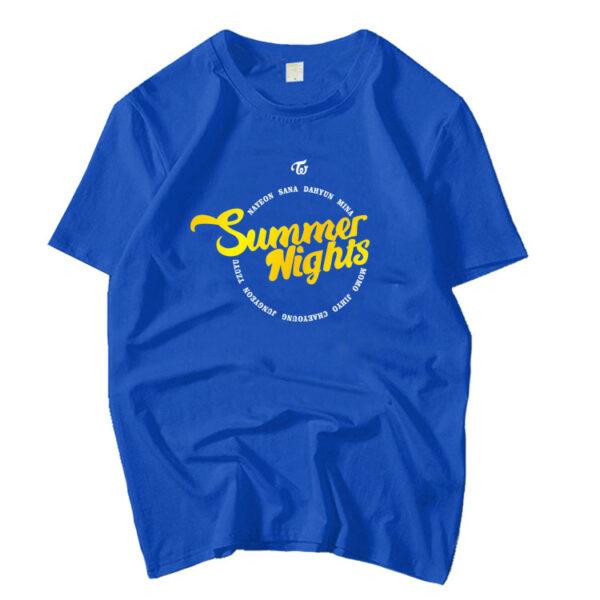 TWICE Summer Nights Blue T-shirt