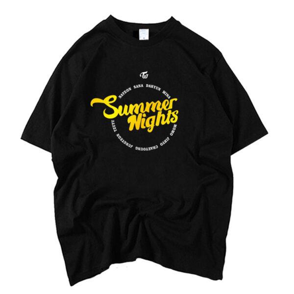 TWICE Summer Nights Camiseta negra