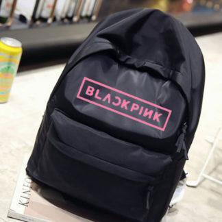 BLACKPINK canvas backpack in black