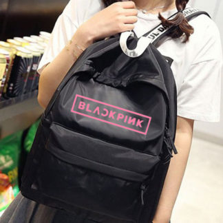 BLACKPINK canvas backpack in black