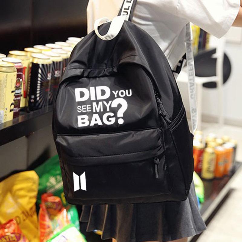 BTS Did you see my bag  backpack in black