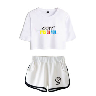 GOT7 Eyes on You crop top and shorts