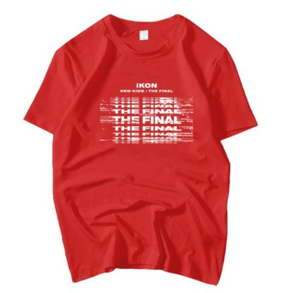 iKON New Kids : Le t-shirt Final en rouge