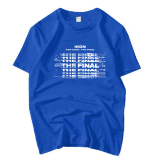 iKON New Kids : The Final tshirt in royal blue