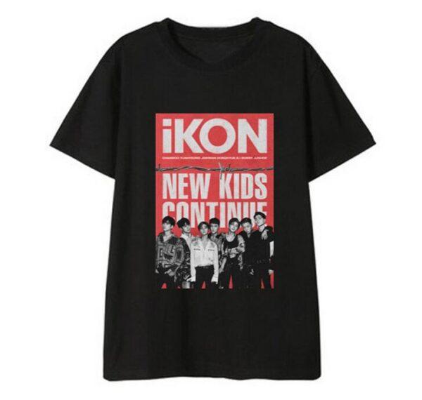 iKON New Kids : Continúa la camiseta en negro