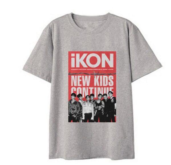 iKON New Kids : Continúa con la camiseta en gris