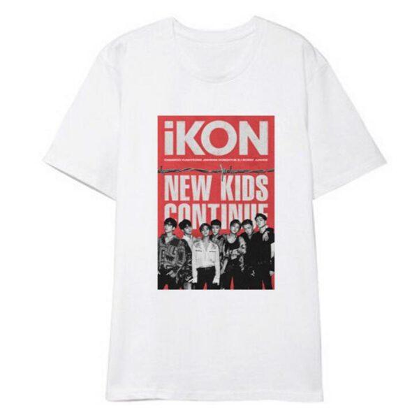 iKON New Kids : Continúa la camiseta en blanco