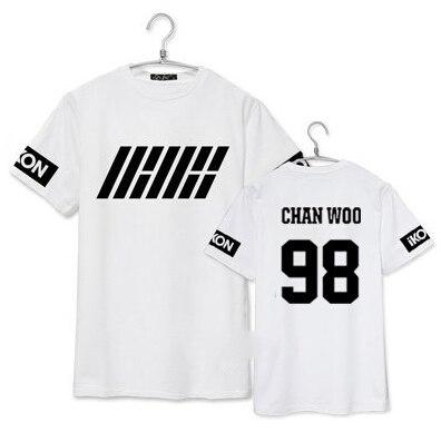 camiseta iKON en chanwoo blanco