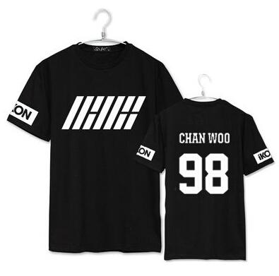 camiseta iKON en negro chan woo