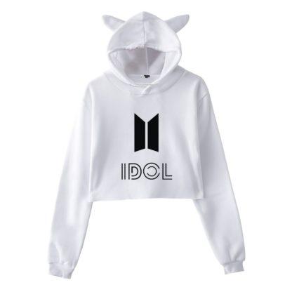 BTS Idol Cat hoodie in white