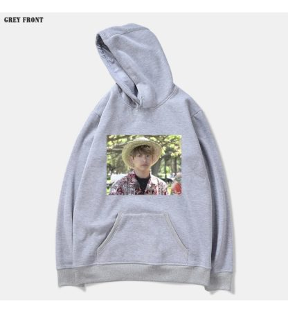 BTS Bon Voyage Jungkook meme hoodie in grey