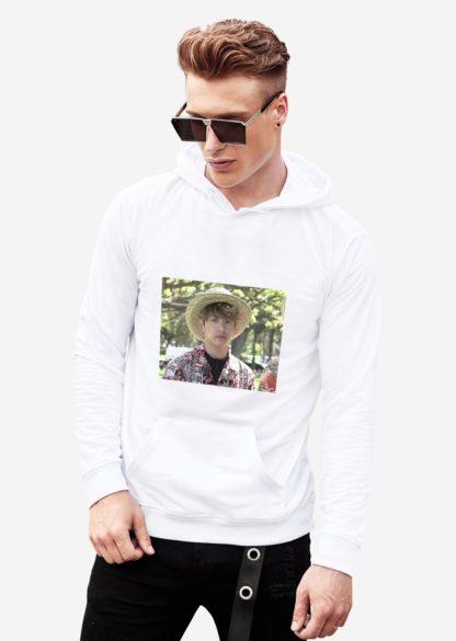 BTS Bon Voyage Jungkook meme hoodie in white