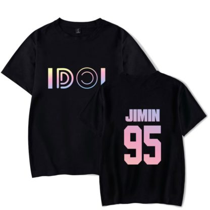 BTS Idol gradient t-shirt in black jimin