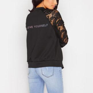 Stylish BTS lace jacket in black