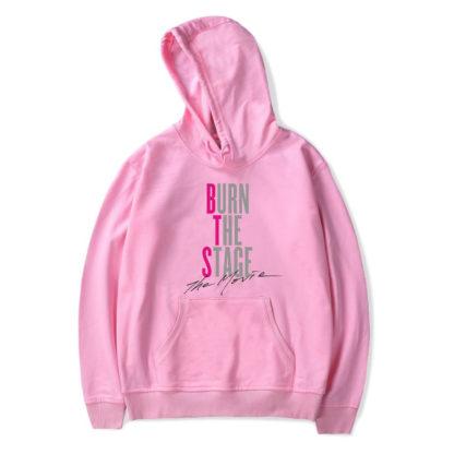 BTS Burn the Stage movie hoodie in pink