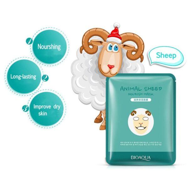 Masque d'animal très Kpop de visage hydratant des moutons