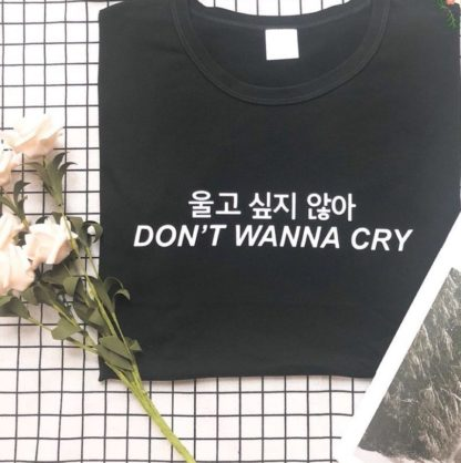 Seventeen Don't Wanna Cry shirt in black