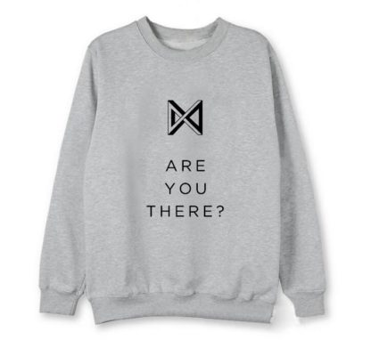 Monsta X Take 2: Are You There Sweater in grey