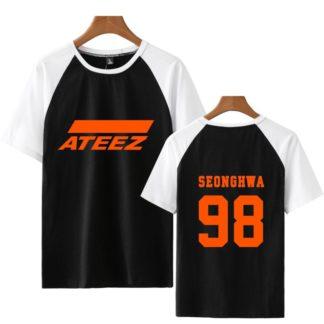 Ateez T-shirt Black Seonghwa